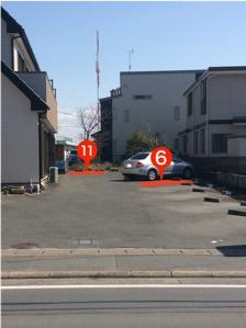 4.敷地内 (6)と(11)が癒しの里の駐車場になっています。